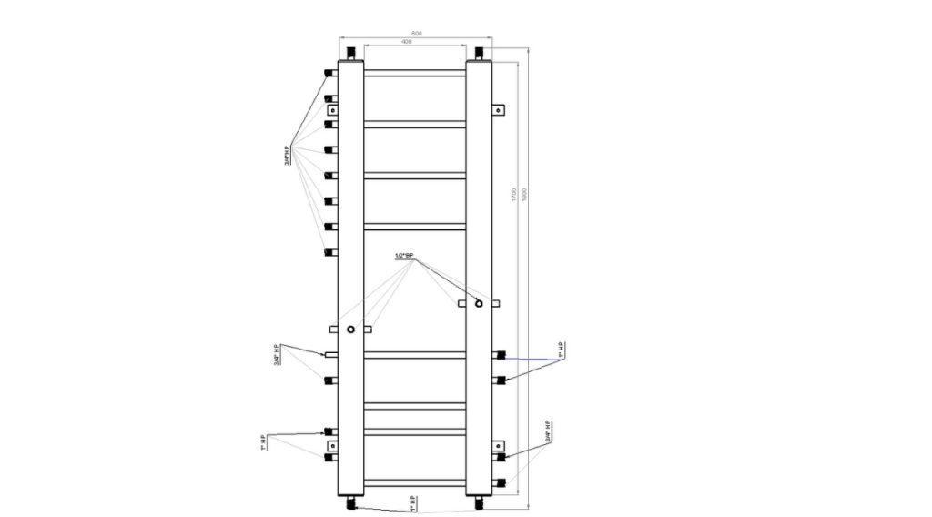 Пример коллектора для отопления