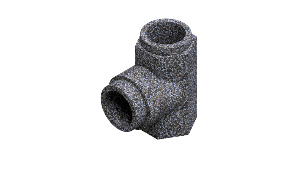 Тройник дымохода из бетона