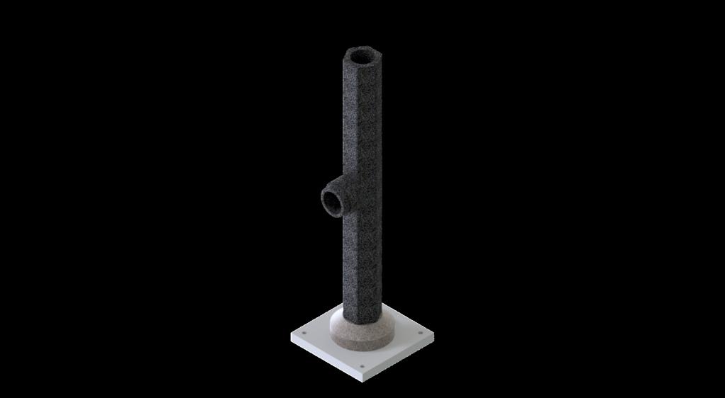 Пример дымохода из термобетона